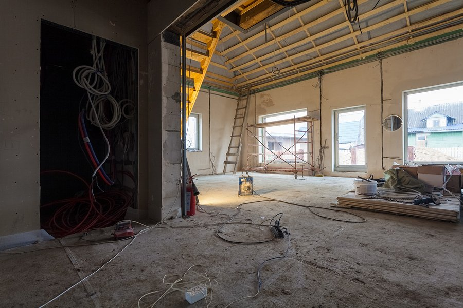 Electric wires and materials,  for repairs and tools for remodeling  interior of house (apartment) that is under remodeling, renovation, extension, restoration, reconstruction and construction (upgrading).